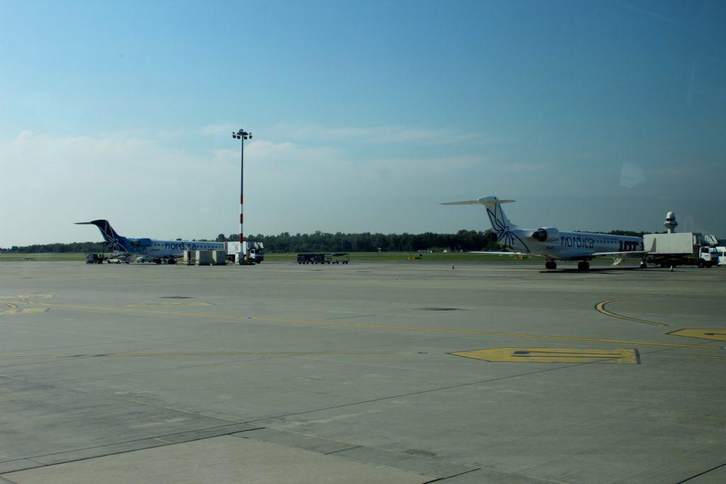 LOT/Nordica CRJ-900 at Warsaw Chopin airport