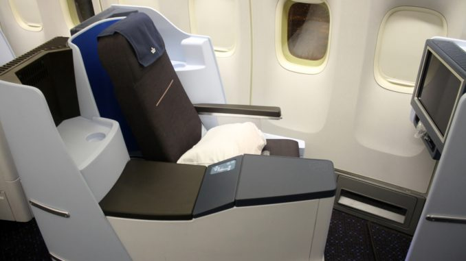 The best seat in KLM World Business Class on the Boeing 747