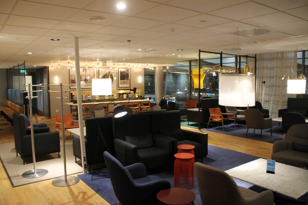 The new SAS Gold Lounge at Oslo Gardermoen