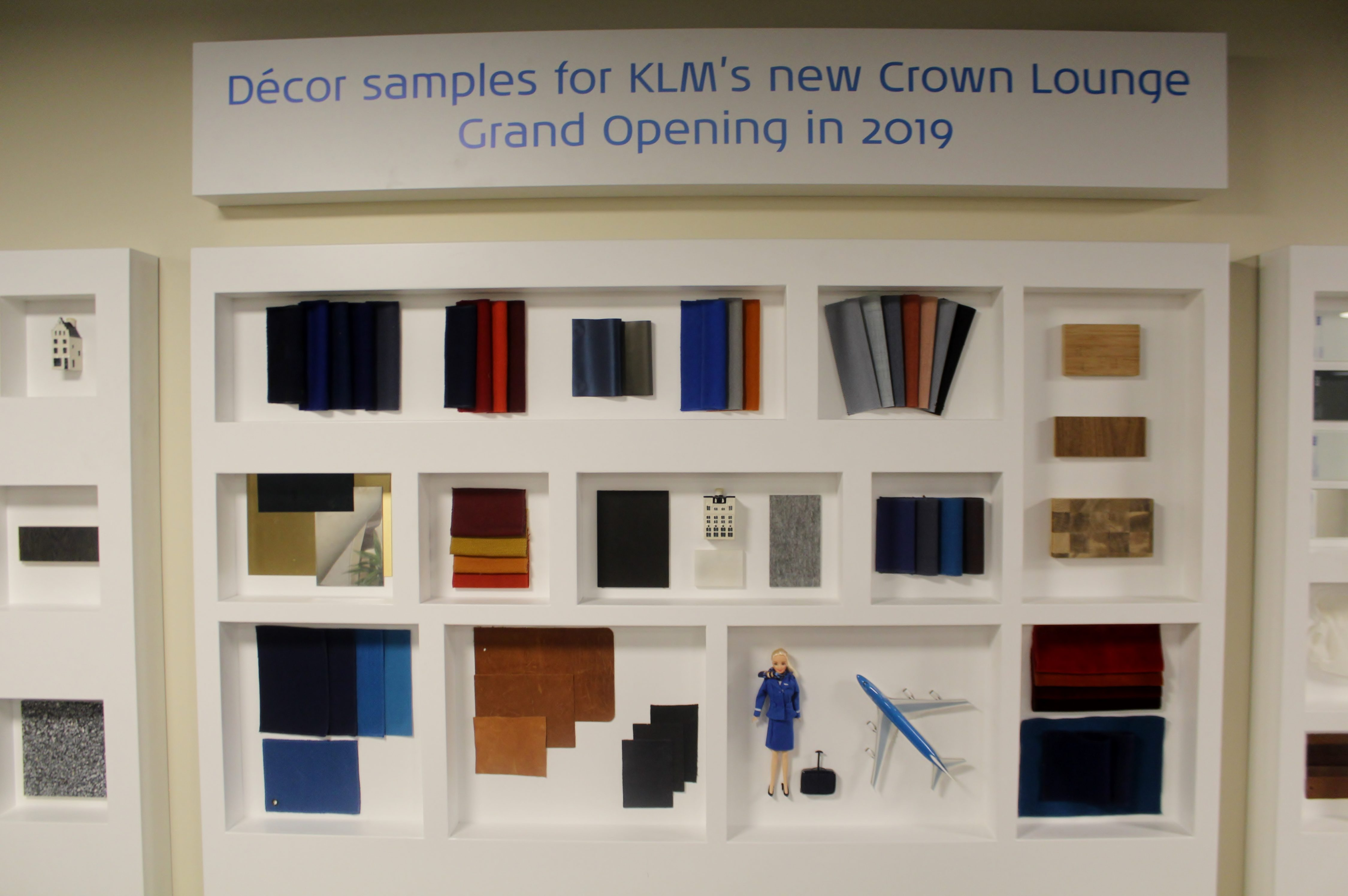 The new design in the new KLM Crown Lounge at Amsterdam Schiphol