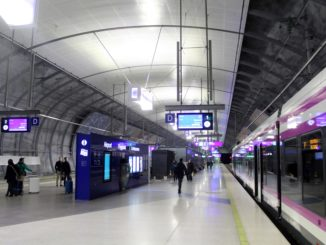 The new railway station at Helsinki Vantaa airport