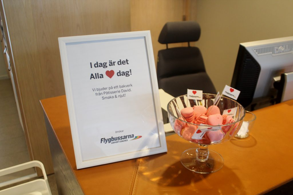 Valentine's day at BRA Lounge at Stockholm Bromma Airport