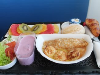 A very colourful breakfast in KLM business class