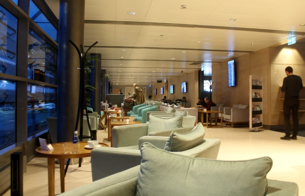Breakfast in the new Primeclass Lounge in Riga