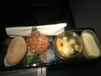 KLM business class breakfast on Embraer 190
