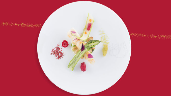 Signature dishes in Air France La Première by French chef Michel Roth