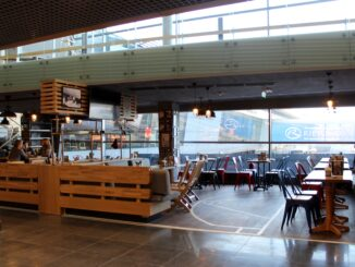 The old Primeclass Lounge at Riga airport is now a cafe