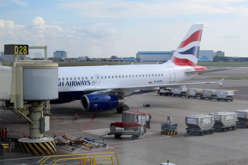 British Airways Business Class Club Europe Amsterdam-London Heathrow