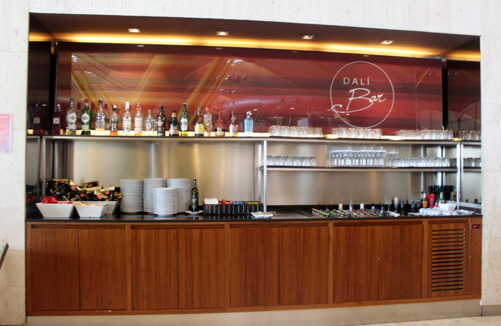 Beer and spirits selection in the Iberia Sala VIP Dali Lounge in Madrid