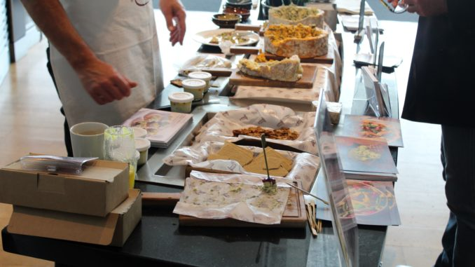 Cheese tasting in the British Airways Galleries First Lounge at London Heathrow