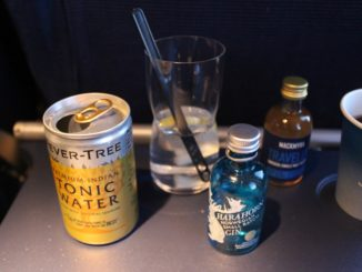 Harahorn gin and Mackmyra whisky on SAS