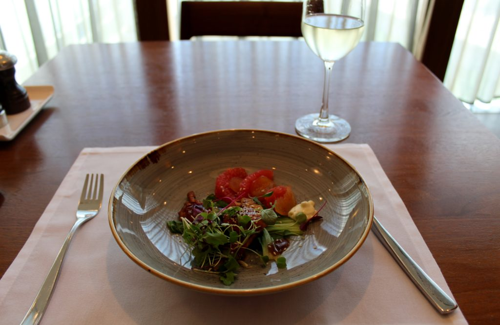 Lunch in the Cathay Pacific First Class Lounge at London Heathrow