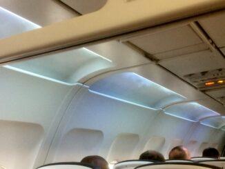 Nightclub feeling with condensation on British Airways