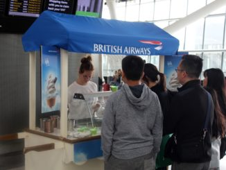 British Airways 99 years anniversary with free ice cream at London Heathrow
