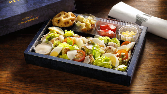 New meal box in business class on KLM Cityhopper