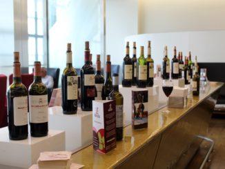 Rioja wine tasting in the British Airways Galleries First Lounge at London Heathrow