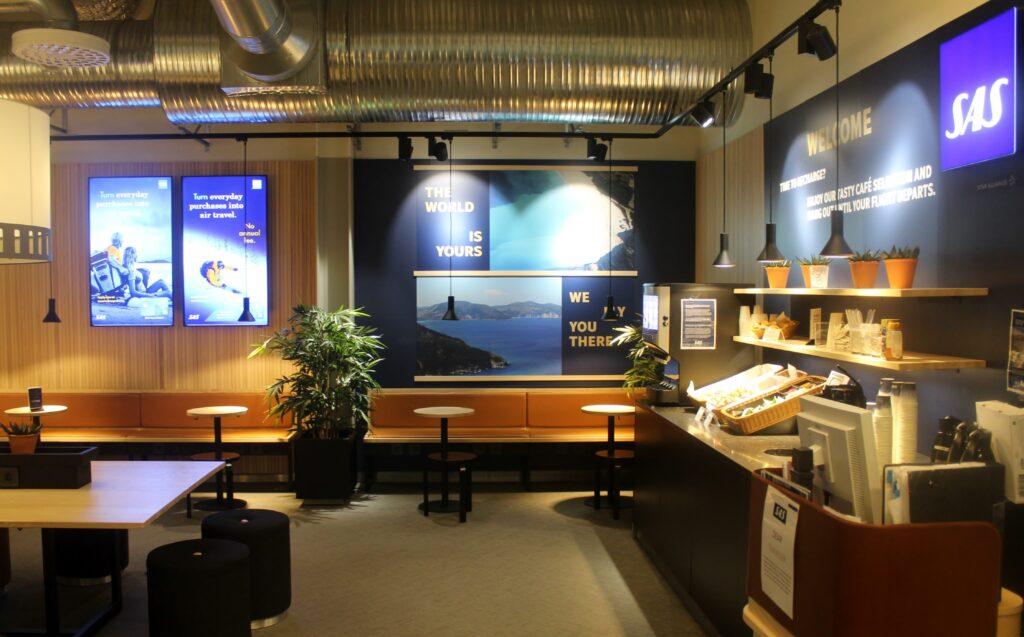 SAS Cafe Lounge Luleå Kallax