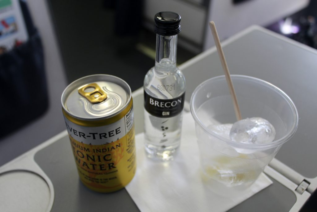 The connoisseur's gin bar on Flybe