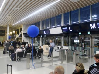 The new transit hall at Stockholm Bromma airport