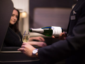 English sparkling wine in British Airways First Class