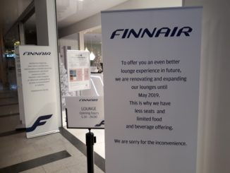 Finnair Premium Lounge in Helsinki closed for renovation