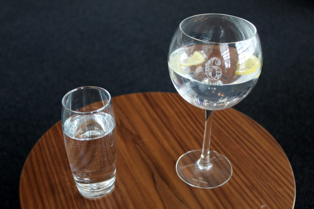 Gin festival in the British Airways Galleries First Lounge at Heathrow terminal 5