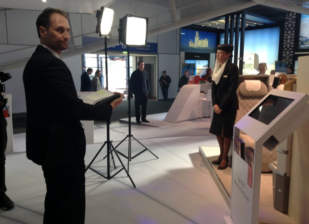 Launch of the new Emirates business class seat at the ITB Berlin