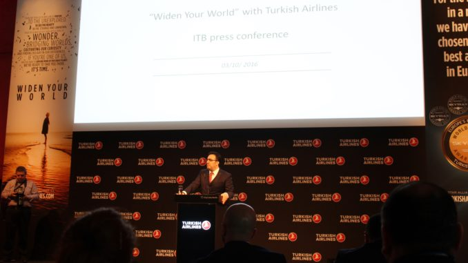 Turkish Airlines press conference at ITB Berlin