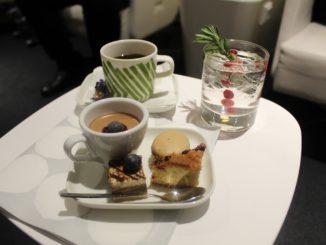 Afternoon tea in the Finnair Premium Lounge in Helsinki