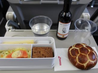 Football-themed meal in Swiss Economy Class