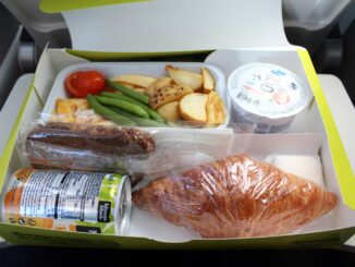 Air Baltic pre-ordered breakfast