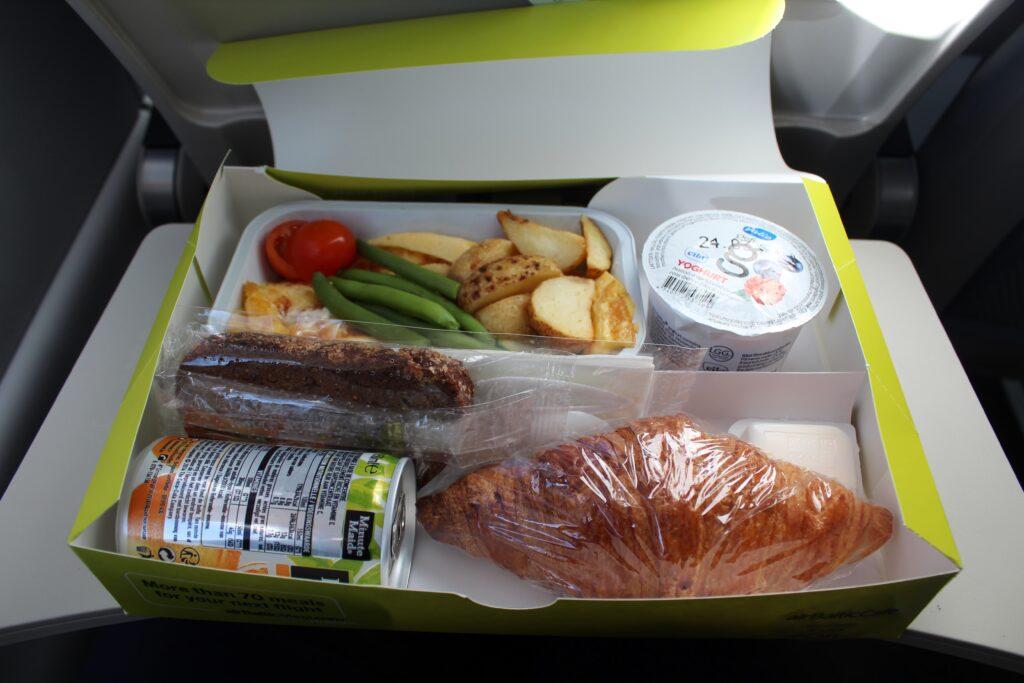 Air Baltic pre-ordered breakfast