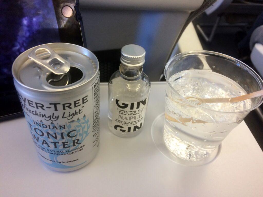 Napue gin on Finnair shorthaul flights