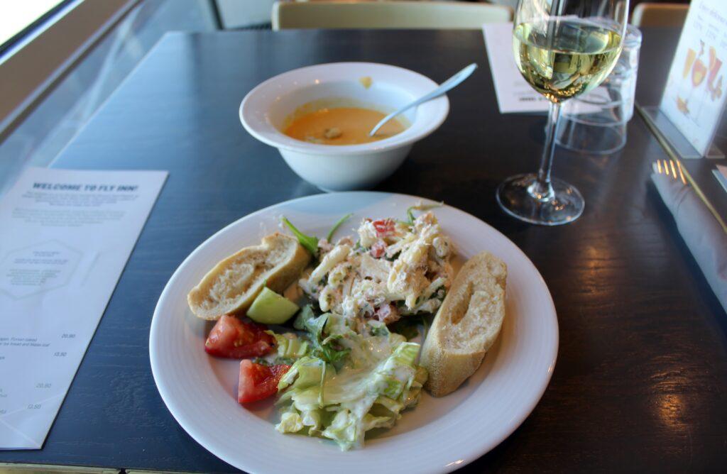 Lunch in the Fly Inn Restaurant at Helsinki Vantaa