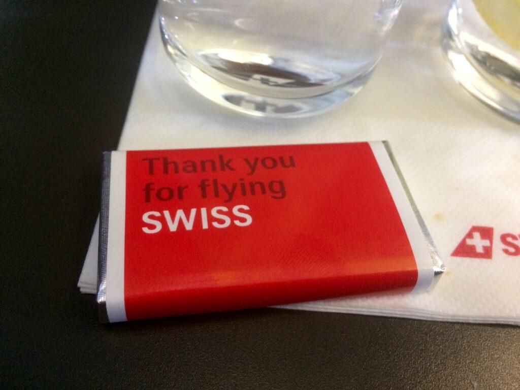 Swiss Business Class Amsterdam-Zürich