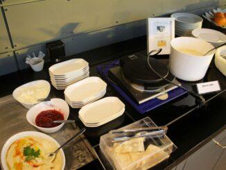 Waffles in the Aviator Lounge at Stockholm Arlanda airport