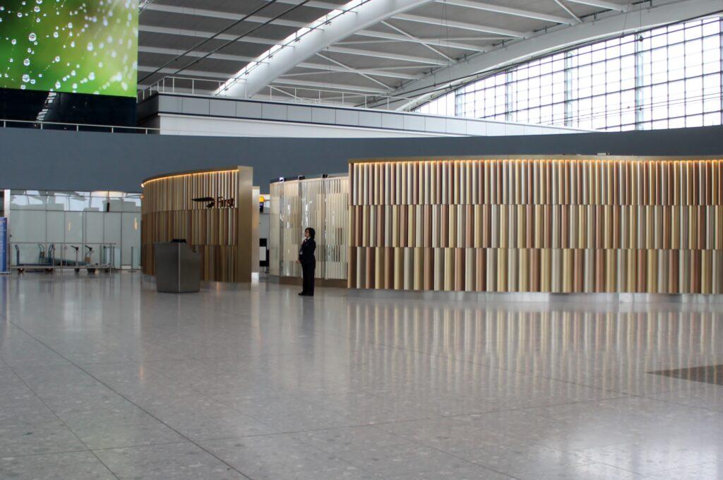 British Airways First Wing London Heathrow terminal 5