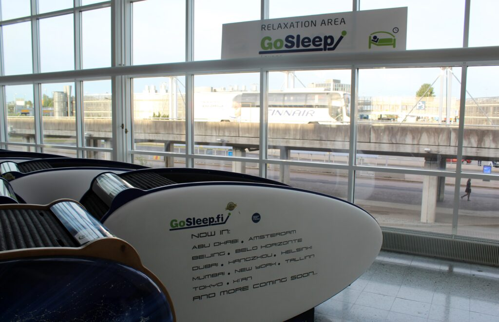 GoSleep igloo pod at Helsinki airport