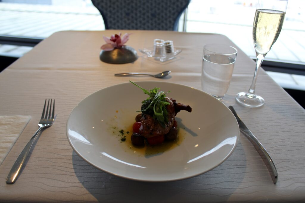 Lunch in Malaysia Airlines First Class Lounge in Kuala Lumpur