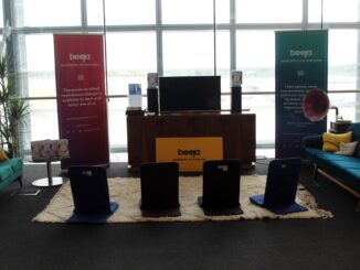 Pop-up meditation corner in the British Airways Galleries First Lounge at London Heathrow