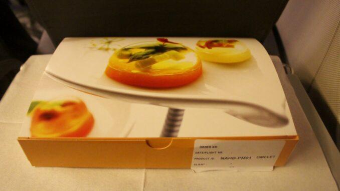 Pre-ordered breakfast it Nordica economy class