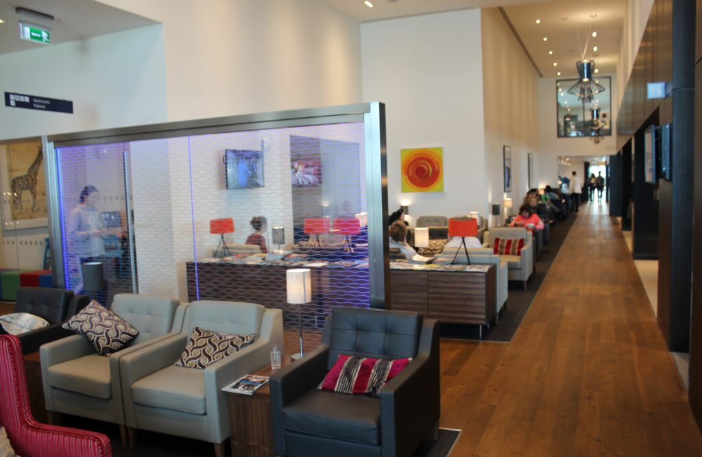 The new British Airways facilities at London Gatwick South Terminal