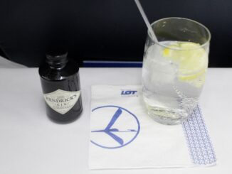 Hendrick's gin in LOT business class