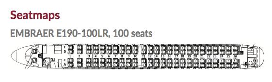 Seatmap WDL Aviation Embraer E190-100LR