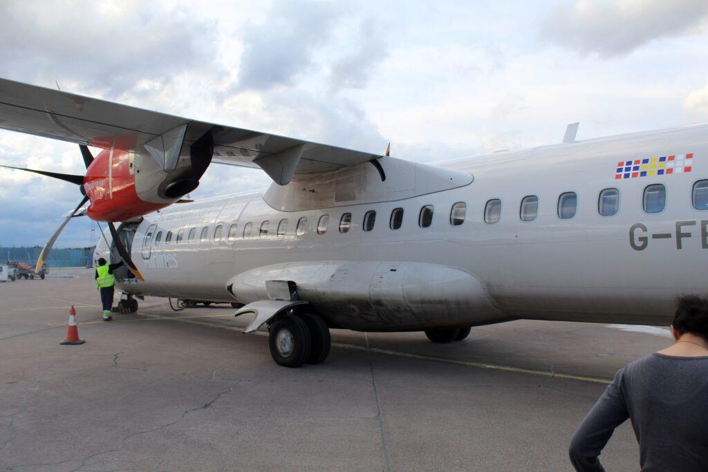 SAS ATR-72 at Stockholm Arlanda airport