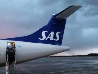 SAS ATR-72 at Helsinki Vantaa airport