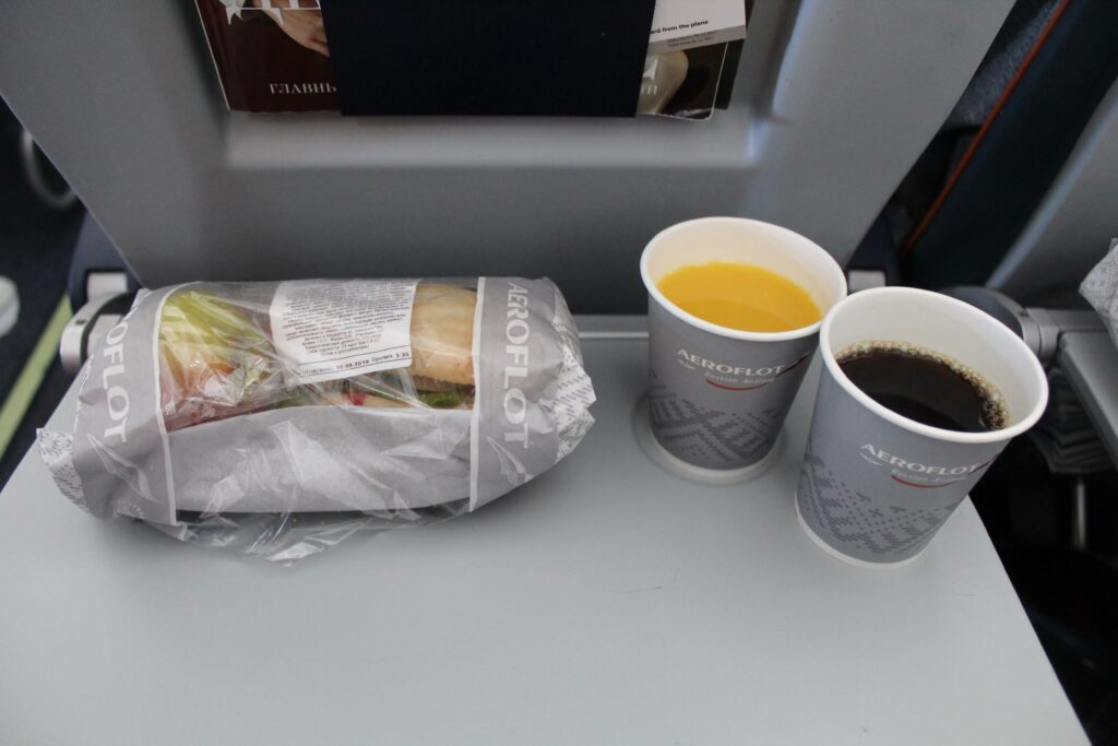 Aeroflot Economy Class Stockholm-Moscow