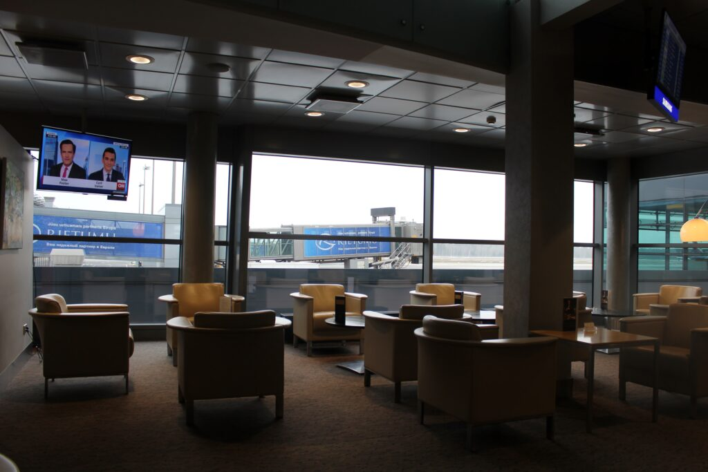 Breakfast in the Primeclass Lounge at Riga airport