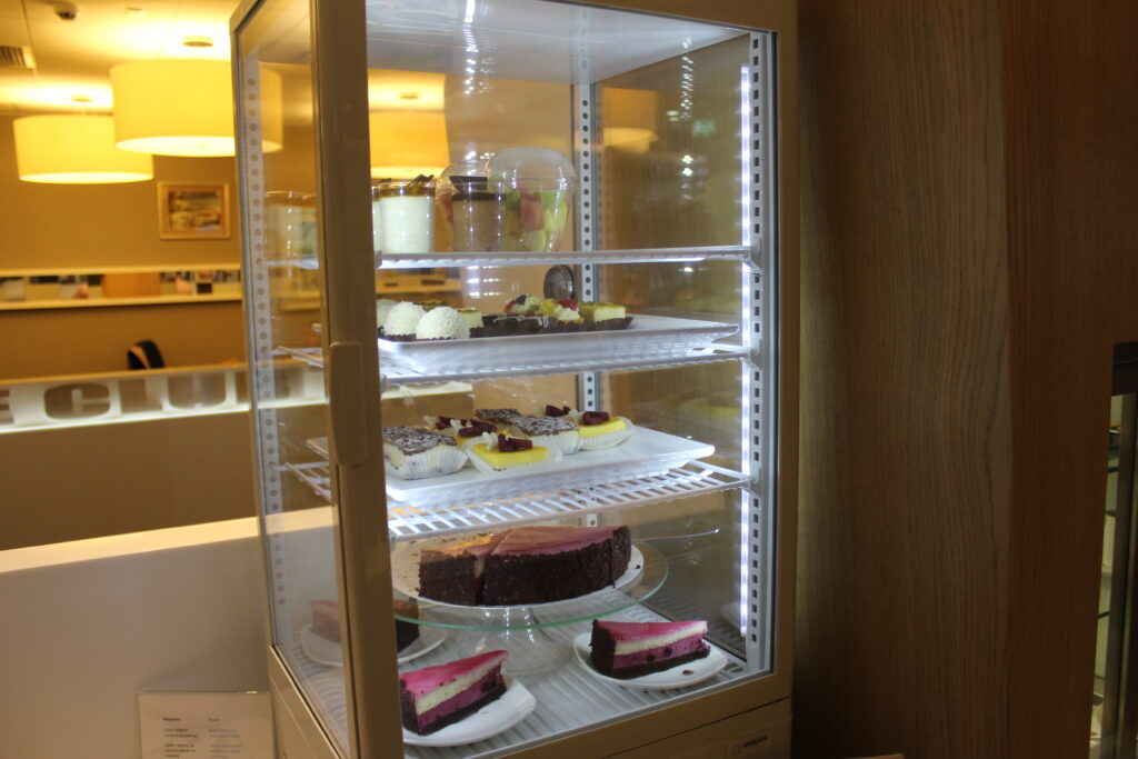 Desserts in the LOT Elite Club Lounge in Warsaw