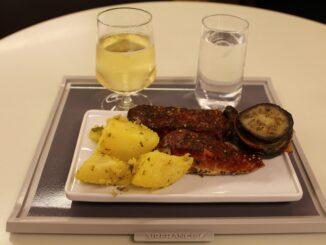 Dinner in the Air France Lounge at Paris CDG